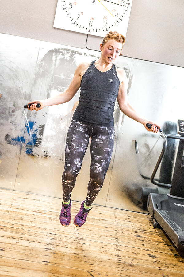 woman skipping at ems fitness norwich
